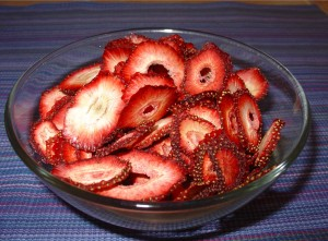 Bowl of Dried Strawberries