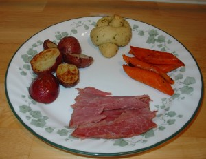 Corned Beef with Roasted Vegetables