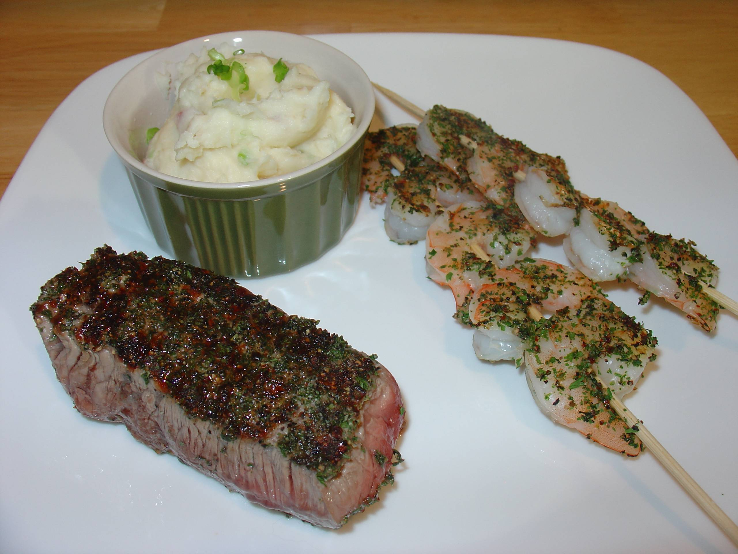 Herb Coated Surf and Turf