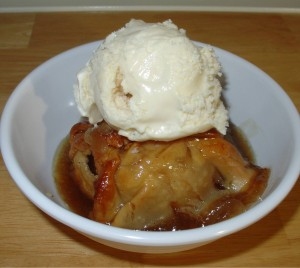 Old Fashioned Apple Dumplings With Cinnamon Syrup