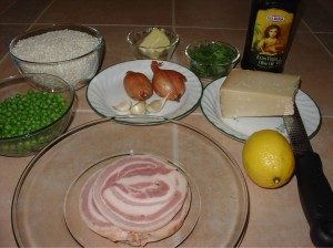 Ingredients for Risotto with Pancetta