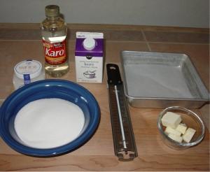 Ingredients for Fleur de Sel Caramels