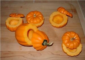 Clean out Pumpkins