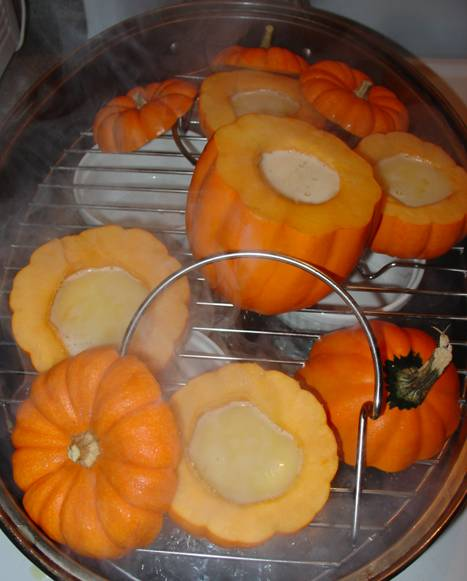 Fill and Steam Pumpkins