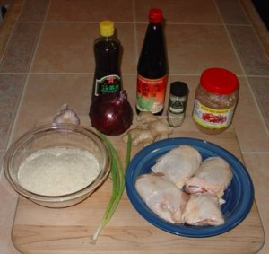 Ingredients for Congee