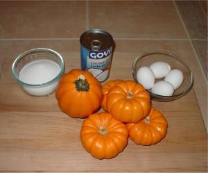 Ingredients for Pumpkin with Custard