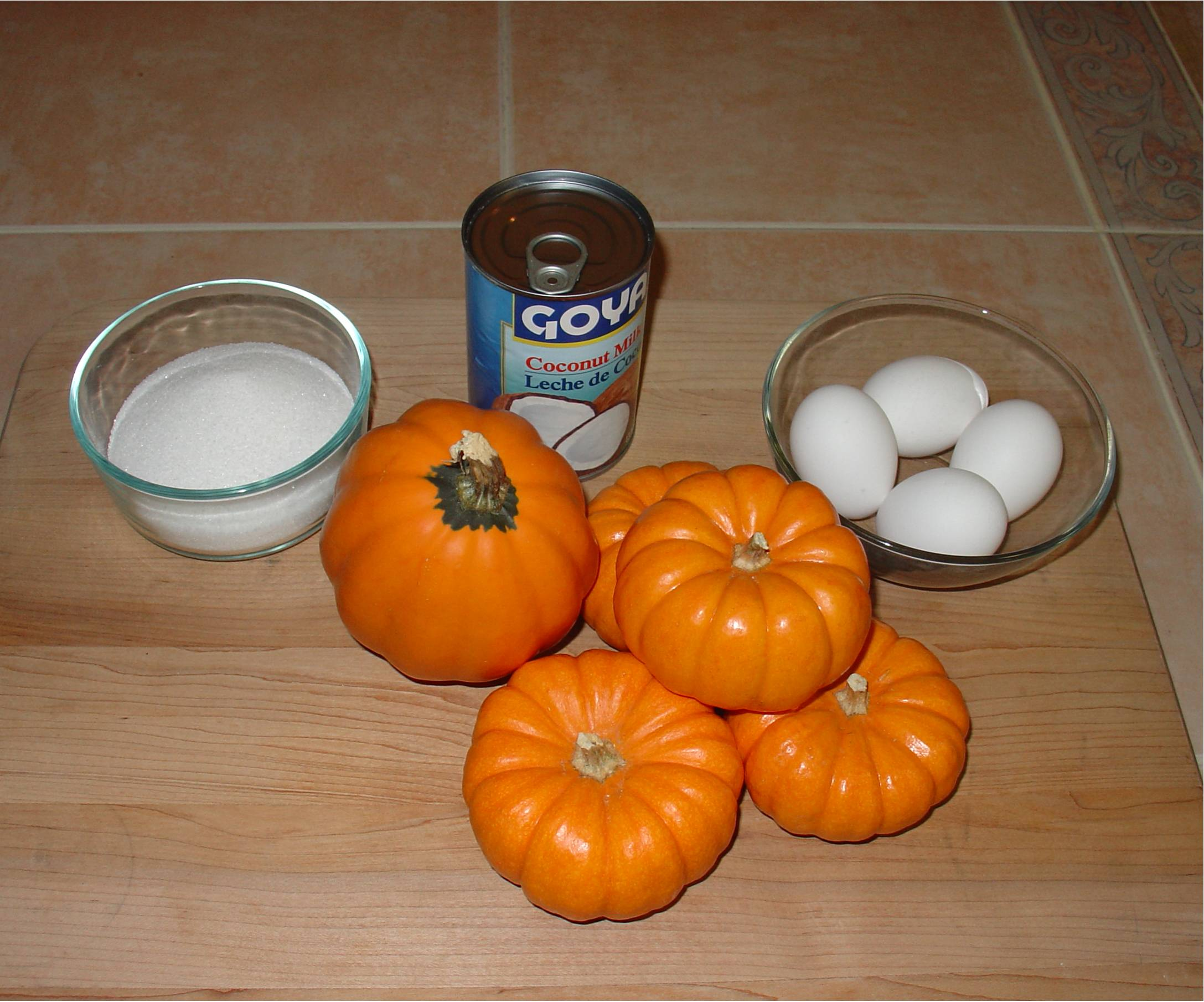 Ingredients for Pumpkin with Custard