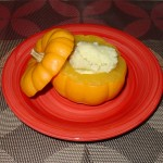 Pumpkin with Coconut Custard