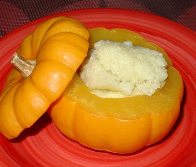 Pumpkin with Coconut Custard