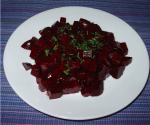 Roasted Beets with Balsamic Vinegar and Chives