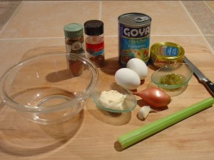 Gather Ingredients for Chickpea and Tuna Salad