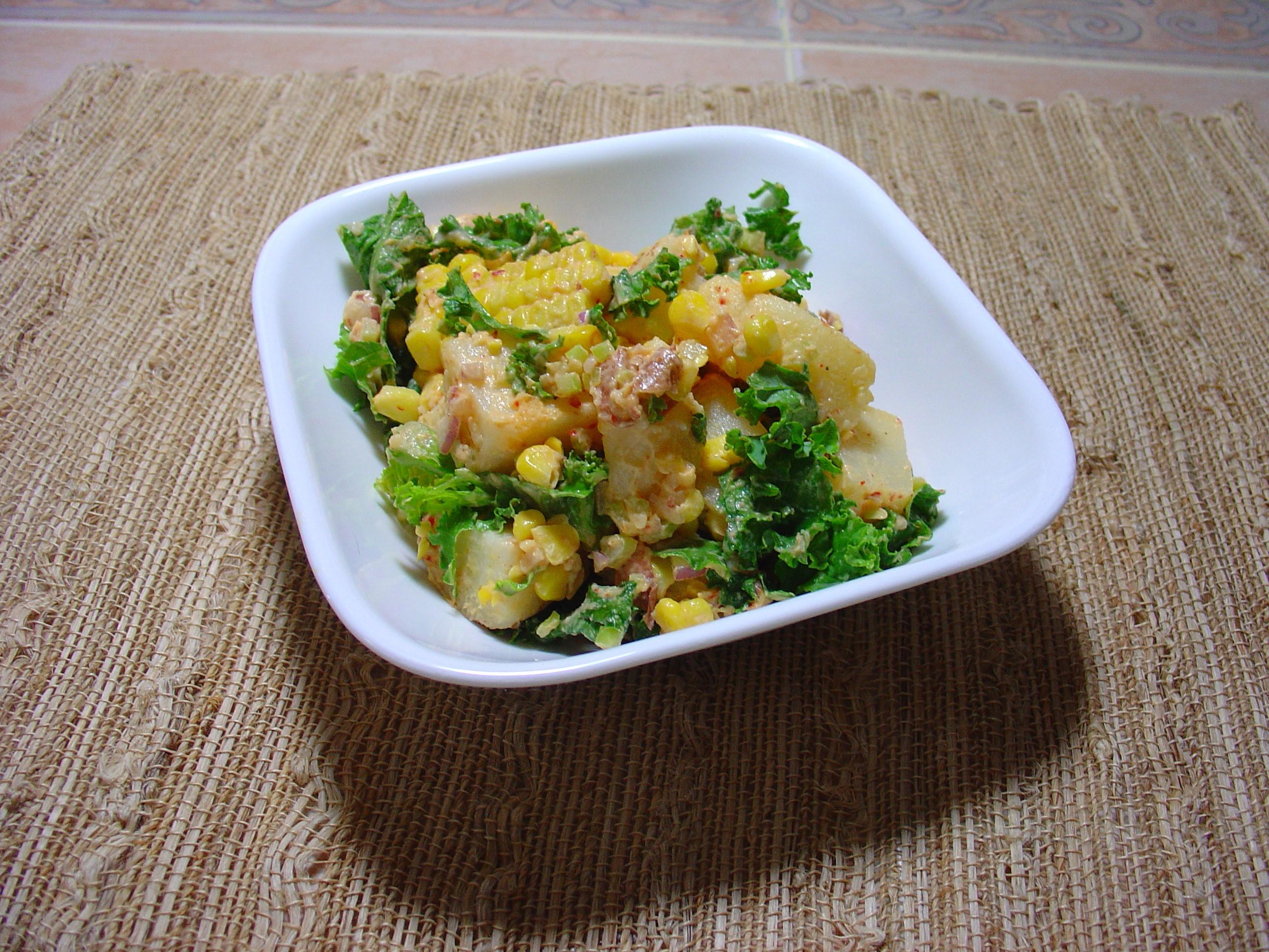 Moroccan Potato Salad with harissa paste