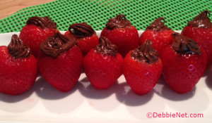 Nutella Filled Strawberries