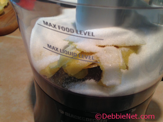 Place Zest and Sugar in Food Processor