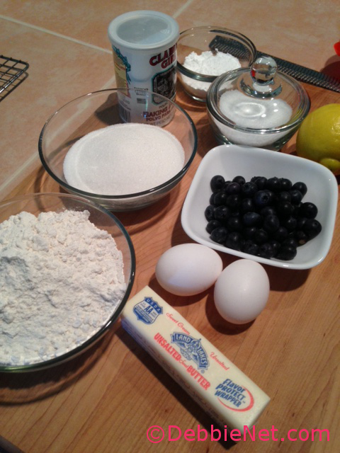 Ingredients Lemon Blueberry Bread