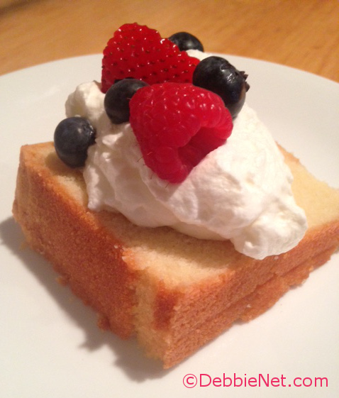 Pound Cake with Berries
