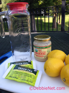 Ingredients for Lemonade Iced Tea