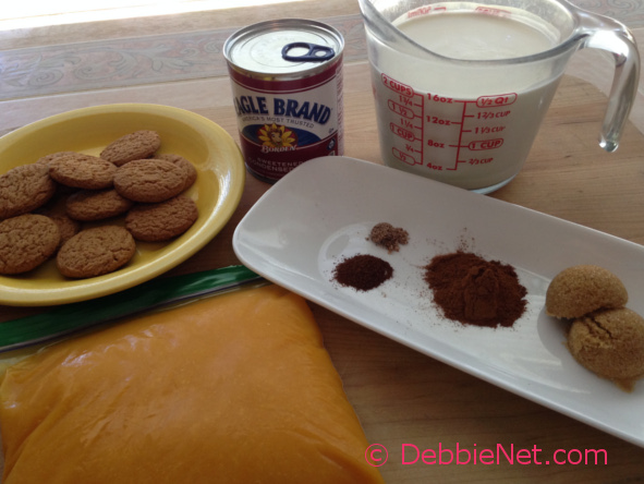 Ingredients for Pumpkin Pie Mousse