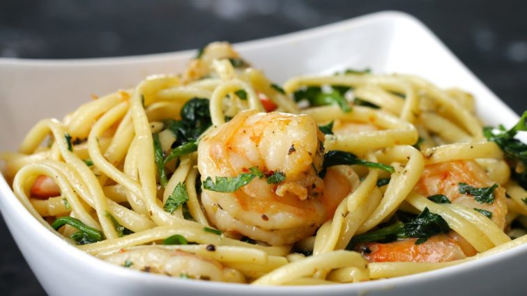 Garlic and Shrimp Pasta