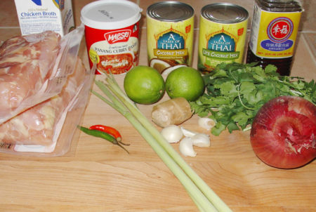 Ingredients for Chicken Thai Soup
