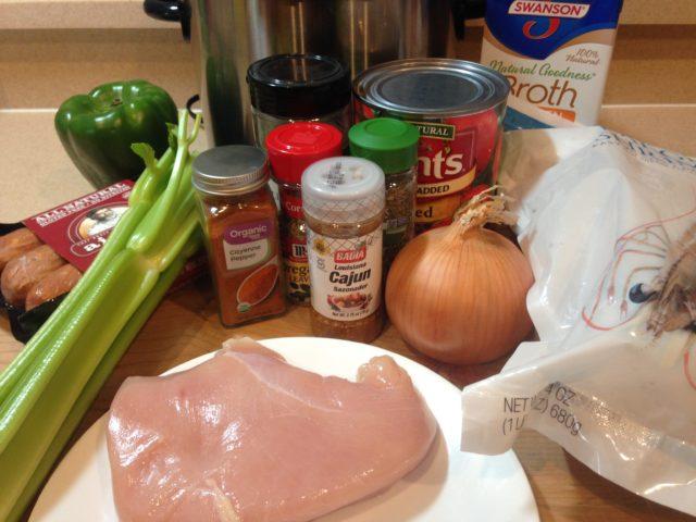 Ingredients for Jambalaya