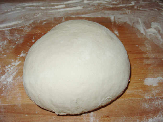 Knead Pizza Dough to Form Smooth Ball