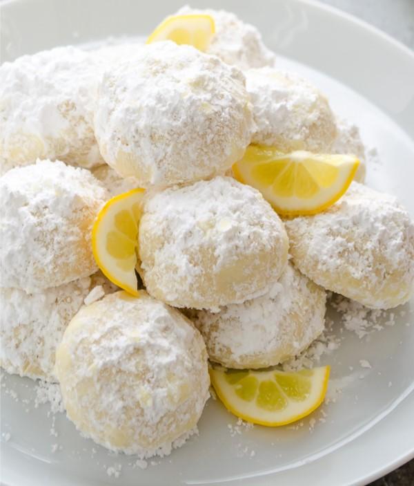 Lemon Coconut Snowball Cookies