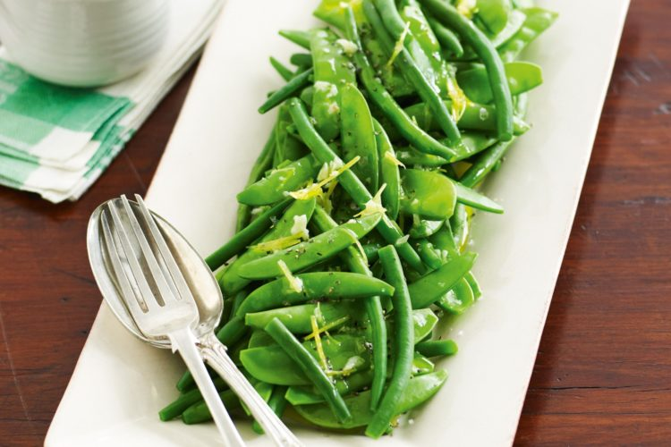 Asian Green Beans with Snow Peas