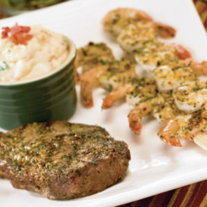 Herb Crusted Surf and Turf