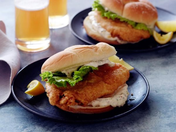 Pan Fried Tilapia Sandwich