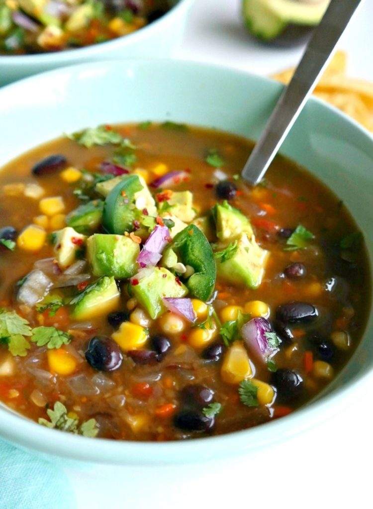 Spicy Black Bean and Vegetable Soup