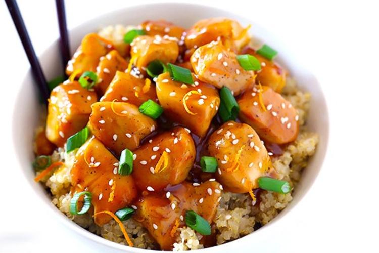 Instant Pot Orange Chicken with Quinoa